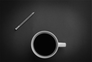 coffee cup and pen